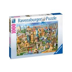 Ravensburger Puzzle 1000 pezzi 19890 - World Landmarks, , large