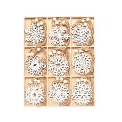 Decorazioni in legno da appendere - Set da 27 pz, , large