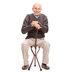 Bastone da passeggio con torcia-seduta-allarme, , large