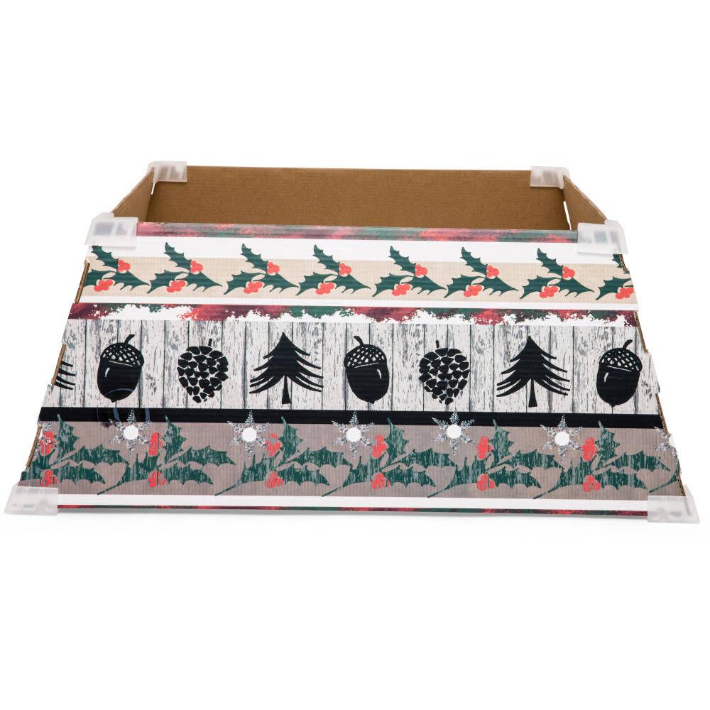 Cache-pied pour sapin de Noël 53 cm - Déco Noël, , large
