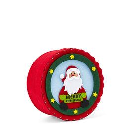 Scatola natalizia tonda in feltro, , large