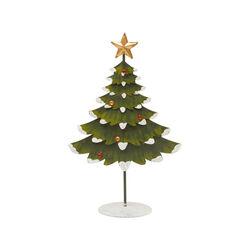 Albero di Natale in metallo da scrivania H 26,5 cm, , large