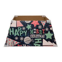 Copertura per base albero di Natale - 46 cm -  decorazione Happy Christmas, , large