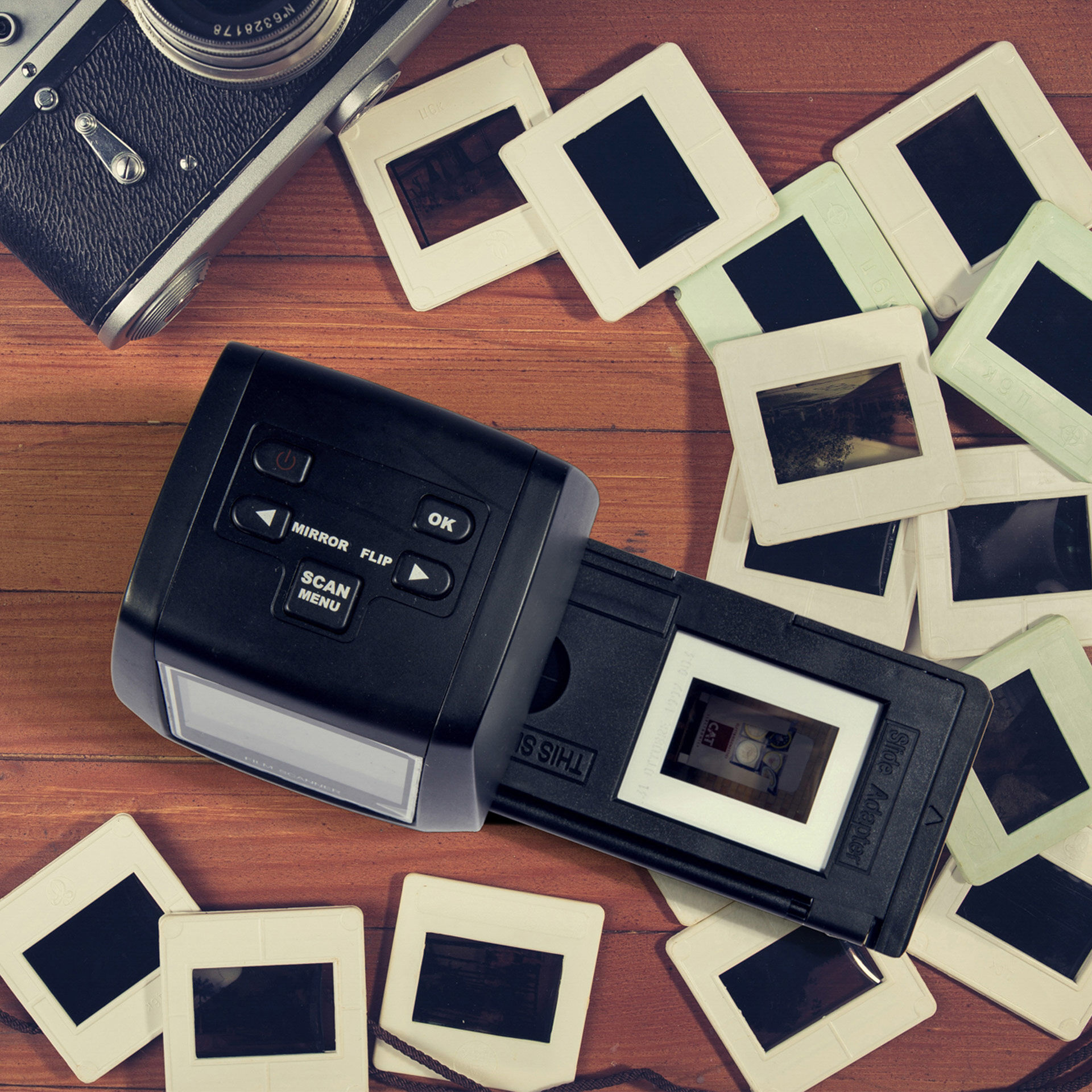 Scanner pour diapositives et négatifs, , large