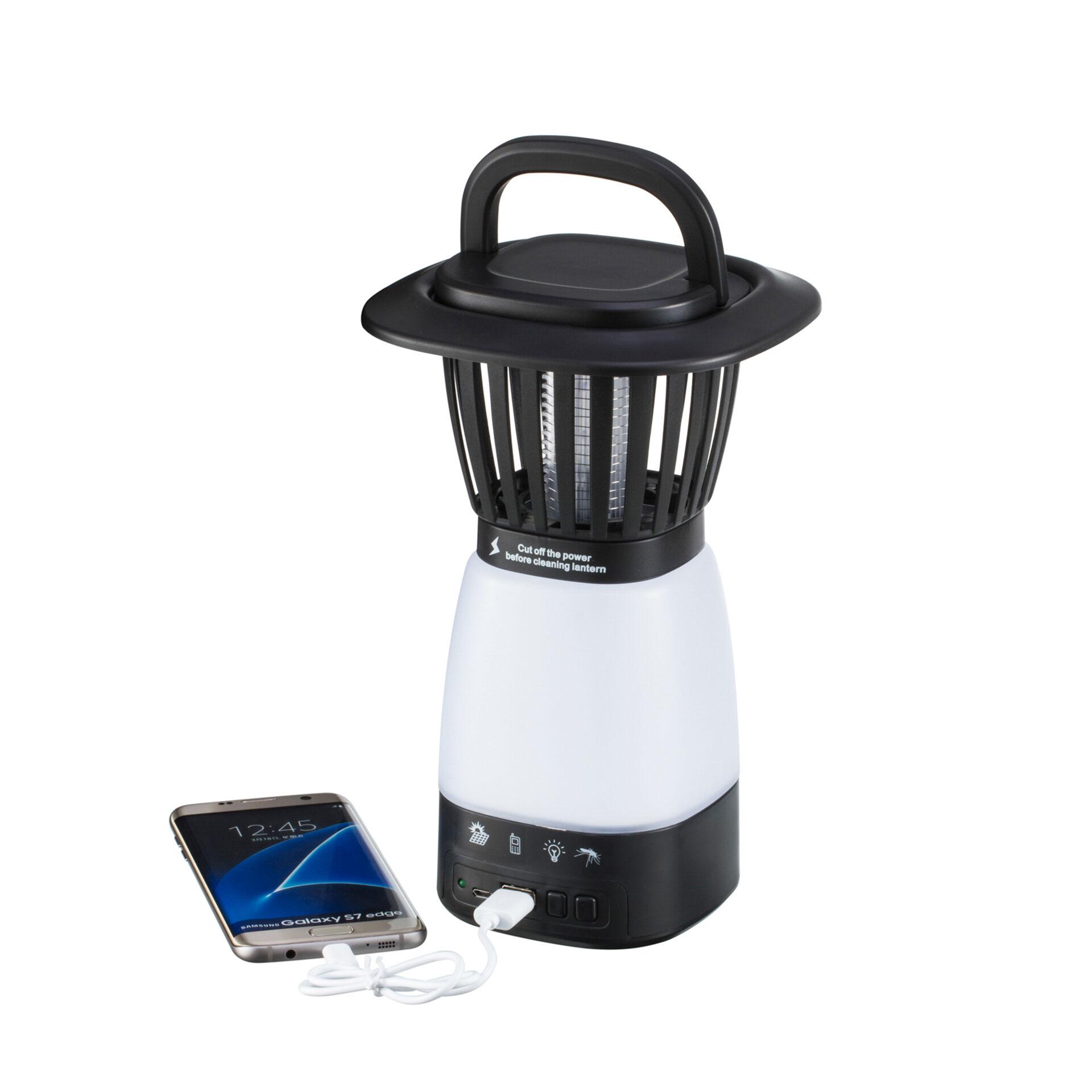 Lampe solaire anti insectes et batterie externe, , large