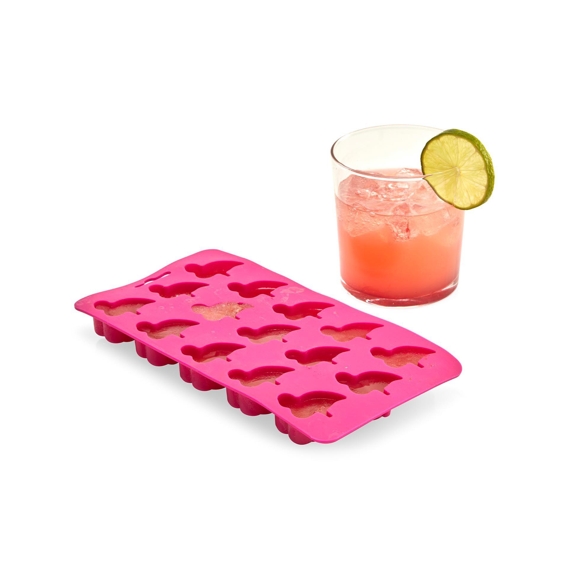Bac à glaçons en forme de cactus flamants roses, , large
