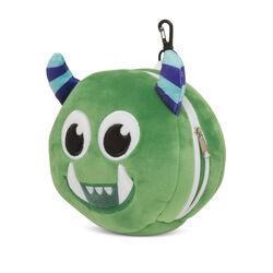 Cuscino da viaggio con maschera per dormire - Mostro verde, , large