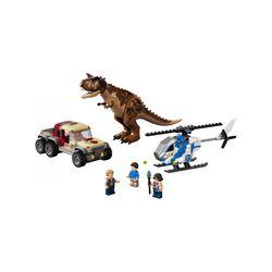 LEGO Jurassic World L'Inseguimento del Dinosauro Carnotaurus con Elicottero e C 76941, , large