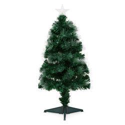 Albero di Natale con luci in fibra ottica, , large