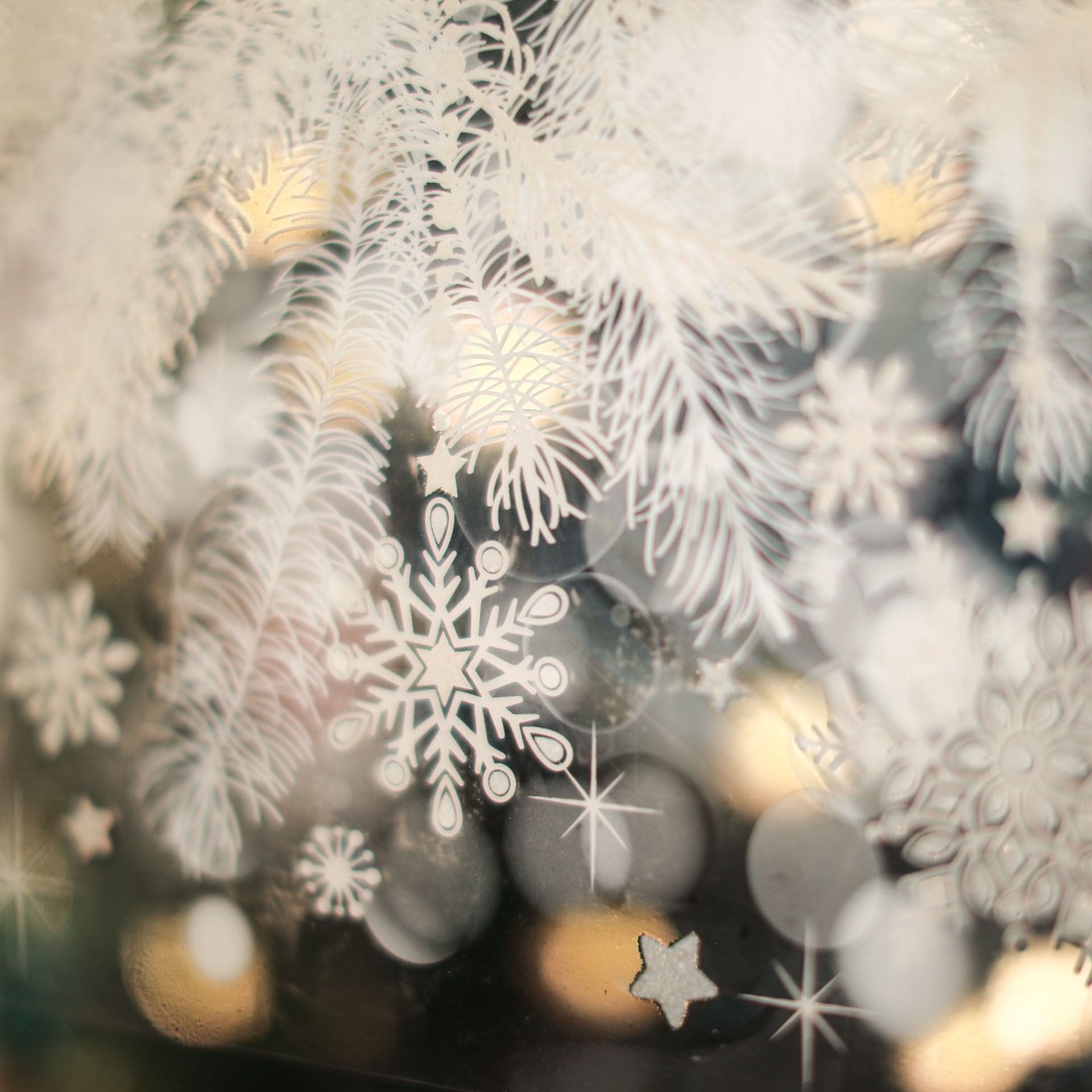 Vitrophanie de Noël avec effet glace, , large