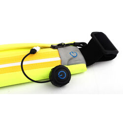 Cintura da running con led e porta oggetti, , large