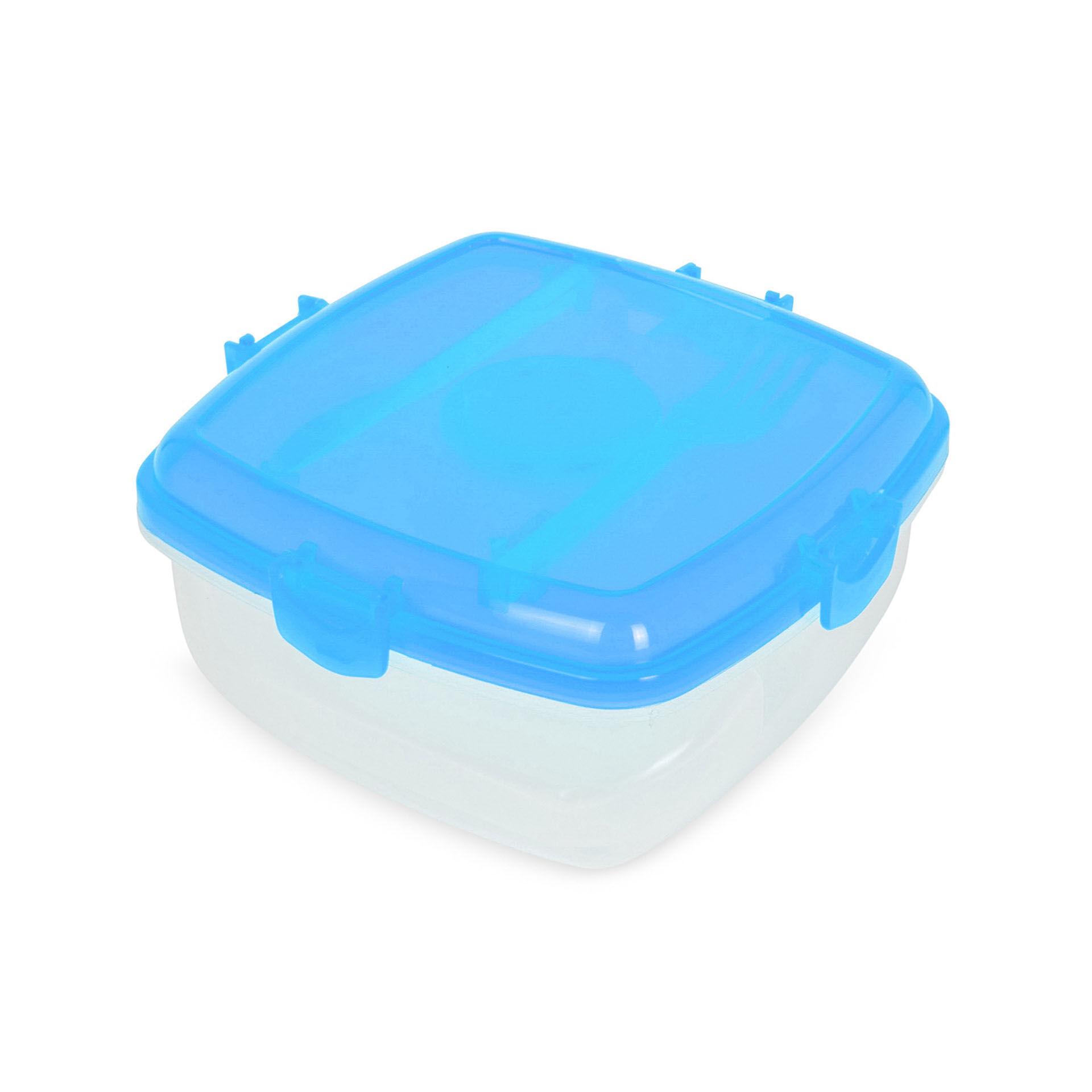 Lunch box pour micro ondes couleur bleue, bleu ciel, large