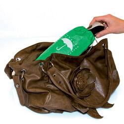 Borsetta porta ombrello assorbi acqua verde, , large