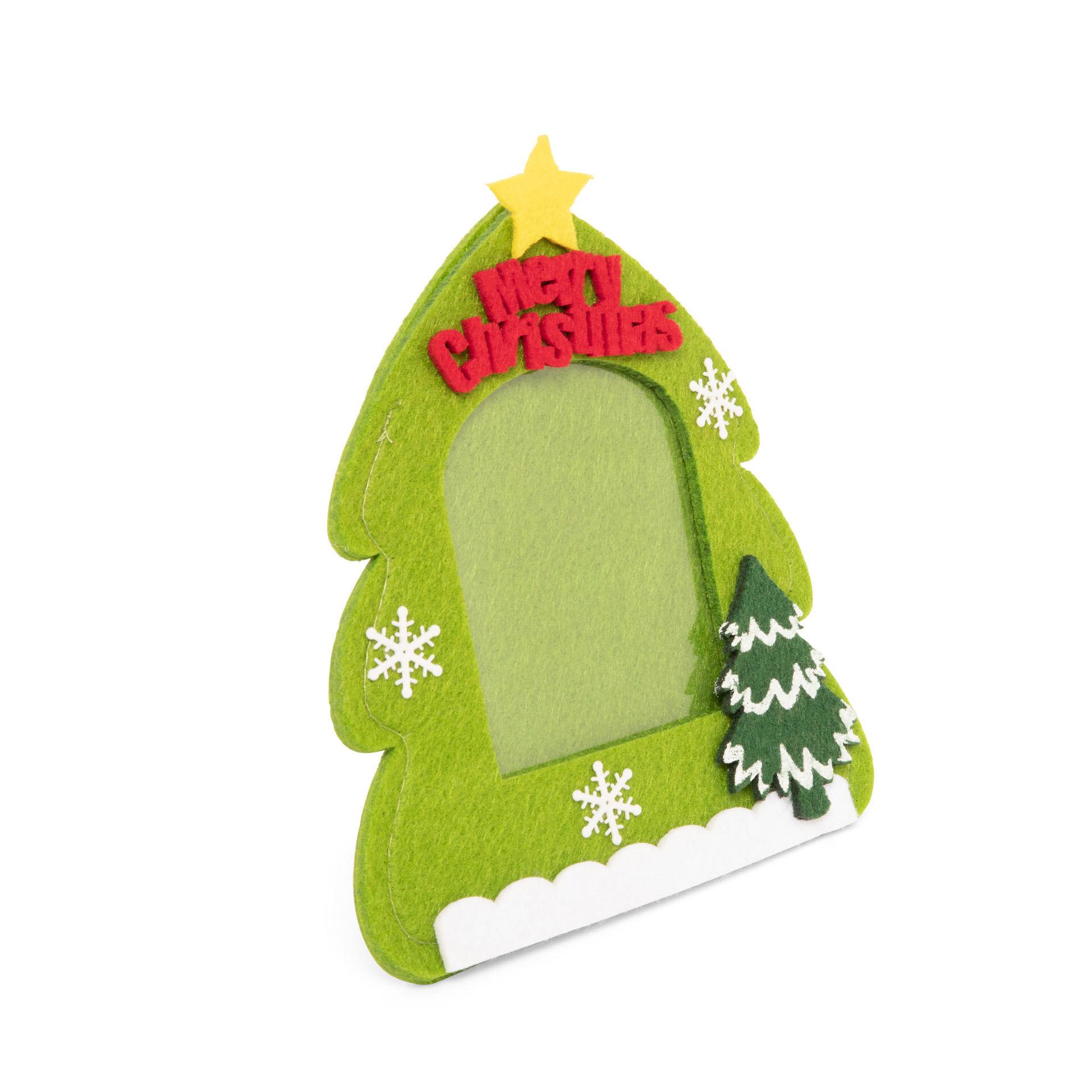 Cadre photo sapin de Noël, vert menthe clair, large