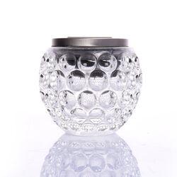 Sfera in vetro con luce cambiacolore, , large