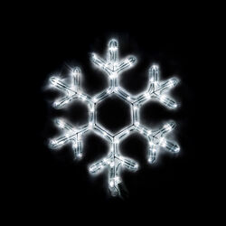 Decorazione fiocco di neve luminoso a Led, , large