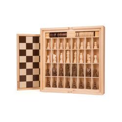 Gioco da tavola dama scacchi e tria in legno, , large