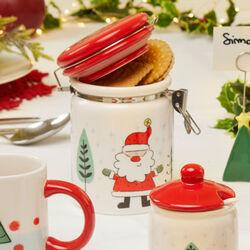 Barattolo natalizio con chiusura ermetica, , large