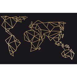 HOMEMANIA Decorazione da Parete Mondo, oro, , large