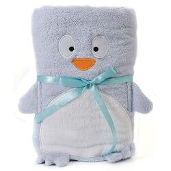 Asciugamano con cappuccio Pinguino, , large