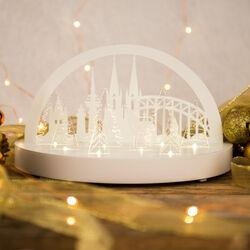 Decorazione natalizia con paesaggio luminoso, , large
