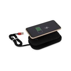 Power bank 5000 mAh con supporto wireless e tecnologia Qi, nero, nero, large