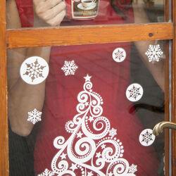Decorazioni natalizie adesive - Colore bianco, , large