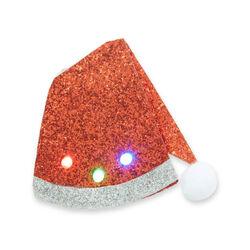 Spilla natalizia decorativa luminosa da giacca, cappello Natale, , large