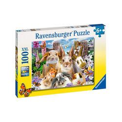 Ravensburger Puzzle 100 pezzi 10949 - Selfie di coniglietti, , large