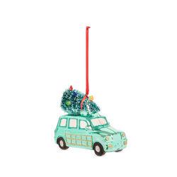 Decorazione natalizia auto in vetro - verde, verde, large