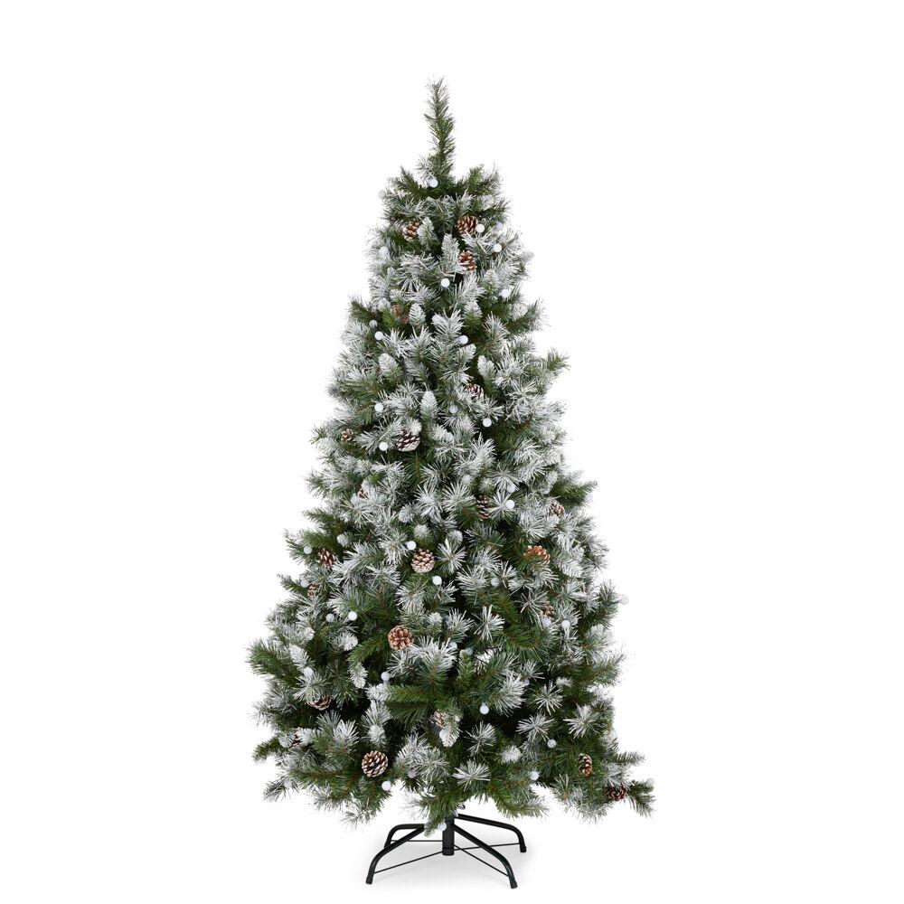 Sapin de Noël effet neige avec lumières, , large