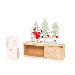 Calendario conto alla rovescia Babbo Natale, , large