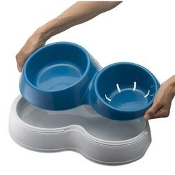 Doppia ciotola: acqua fresca e pulita, , large