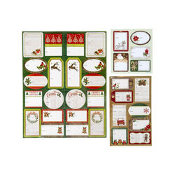 Etichette adesive natalizie - Set da 23 pz, , large