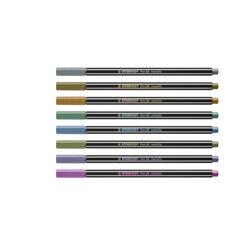 Pennarello Premium Metallizzato STABILO Pen 68 metallic -Scatola in metallo da 8, , large