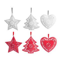 Set 3 decorazioni in metallo, , large
