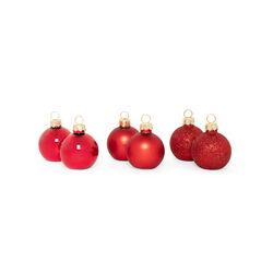 Segnaposto natalizi - Set da 6 pz, rosse glitterate, rosso glitterato, large