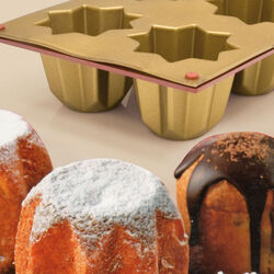 Stampo in silicone per 6 Mini Pandoro, , large