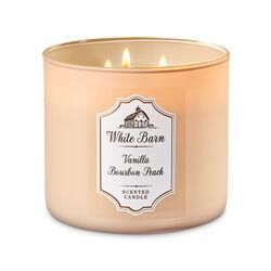Vanilla Bourbon Peach Candela profumata decorativa 3 stoppini con oli essenziali, , large