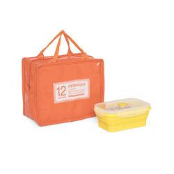 Borsa porta pranzo colore arancione, arancione, large