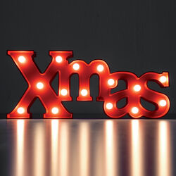 Scritta Merry Christmas con led, , large
