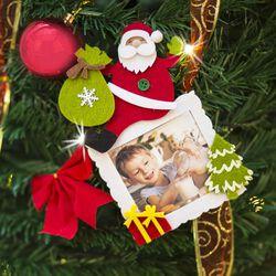 Portafoto in feltro per albero di Natale, , large