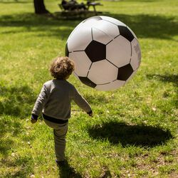 pallone gigante gonfiabile da calcio, , large