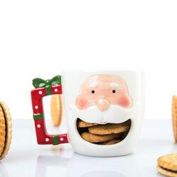 Tazza natalizia con porta biscotti Babbo Natale, , large