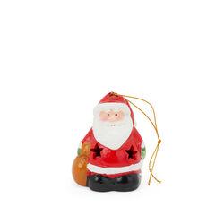 Decorazione luminosa in ceramica per albero - Babbo Natale, , large