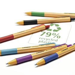 Penna a sfera Ecosostenibile - STABILO pointball - 79% Plastica Riciclata -, , large