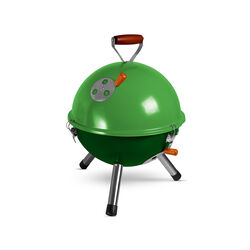 Mini barbecue sferico - Verde, verde, large