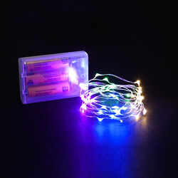 FILO LUCI CON 40 MICRO LED A BATTERIA - LUCE MULTICOLORE, multicolore, large