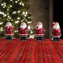 Set 4 fermatovaglia a forma di Babbo Natale, , large
