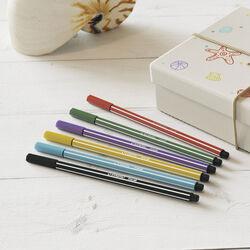 STABILO Pen 68 - Astuccio da 15 (10 base + 5 Neon) - Colori assortiti, , large
